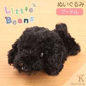 Hamee 日本 Little Beans 療癒小動物 絨毛玩偶 掌上型娃娃 (貴賓狗/黑) 390-888746