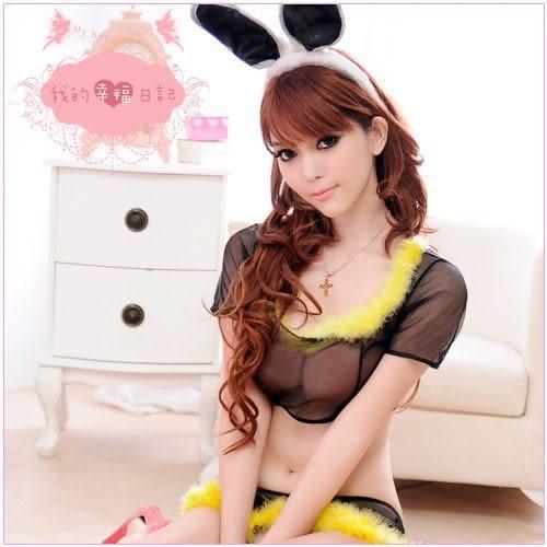 角色扮演服-迷情聖誕夜‧兔女郎扮演角色服(黑) 情趣用品