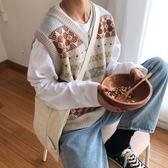 針織馬甲保暖馬甲女背心2019冬季內穿韓版百搭針織衫寬鬆學生V領毛衣 雲朵走走