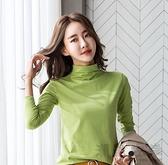純棉長袖T恤2020早秋冬新款韓版修身打底衫女內搭上衣半高領百搭