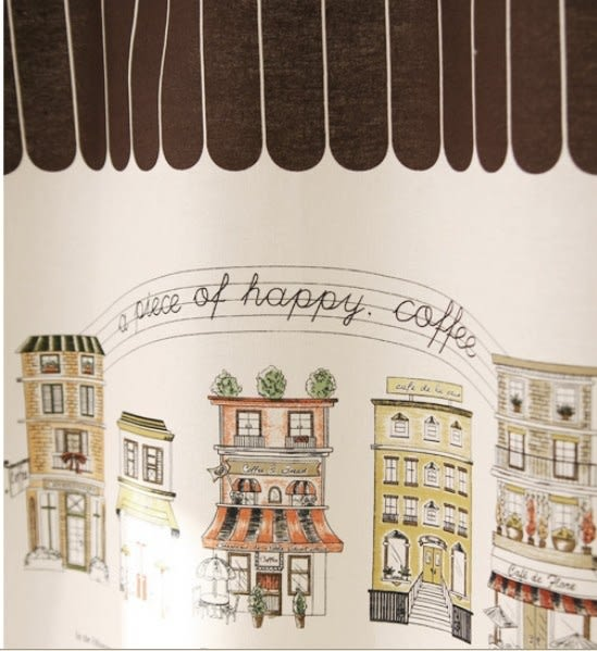可愛時尚棉麻門簾288 廚房半簾 咖啡簾 窗幔簾 穿杆簾 風水簾 (80cm寬*140cm高)