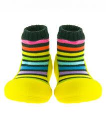 Attipas幼兒襪型學步鞋 香蕉彩虹(M-10.9-11.5CM)