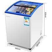 酒櫃 小型家用冰櫃商用雪糕冷凍展示櫃臥式冷櫃迷你冷凍櫃雪糕櫃冷藏櫃 1995生活雜貨NMS