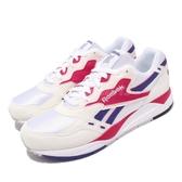 Reebok 復古慢跑鞋 Bolton 白 紅 紫 麂皮鞋面 老爹鞋 運動鞋 男鞋【PUMP306】 M49231