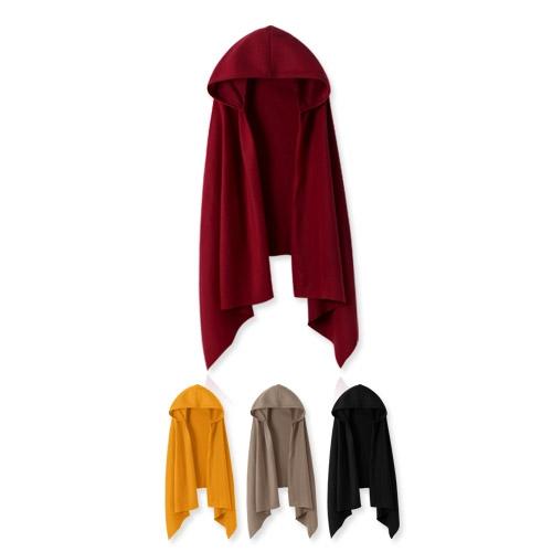 ★冬裝上市★MIUSTAR 舒服刷毛素面連帽斗篷式圍巾(共2色)【NG0887RE】預購