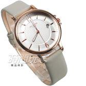 MITINA米提娜 點點時尚 皮革防水腕錶 日期顯示窗 男錶 中性錶 女錶 玫瑰金 M320玫卡
