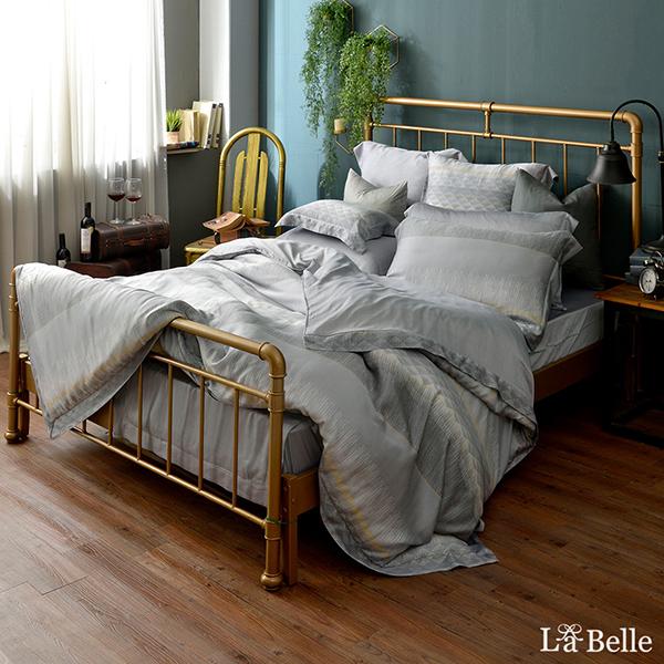 義大利La Belle《摩登之城》特大天絲四件式防蹣抗菌吸濕排汗兩用被床包組