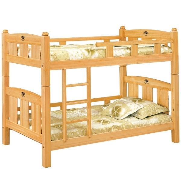 雙層床 AT-595-3 貝比3.5尺雲檜木雙層床 (不含床墊) 【大眾家居舘】