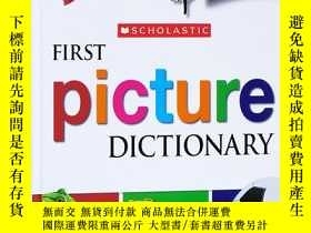 二手書博民逛書店英文原版罕見Scholastic First Picture D