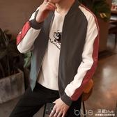 男士春季休閒外套個性韓版夾克帥氣學生修身衣服潮流男裝 【快速出貨】