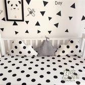 ins爆款北歐簡約嬰兒兒童寶寶雲朵造型創意床圍嬰兒床品 自由角落