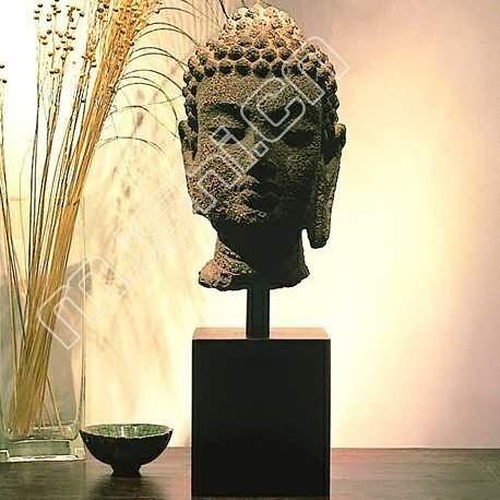 家居飾品 樹脂仿古 仿石雕佛像 佛頭靜