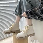 白色馬丁靴女ins網紅瘦瘦靴2020年新款英倫風秋冬單靴平底短靴子 3C優購
