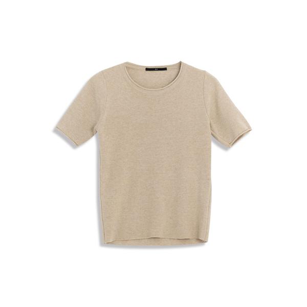 Queen Shop【01070978】圓領捲邊設計短袖針織杉 五色售*現+預*