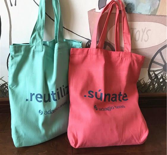 《花花創意会社》外流。煙燻系字母棉麻購物袋。二色【H6174】