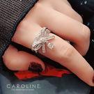 《Caroline》★韓國熱賣造型時尚  閃人耀眼水鑽戒指71152