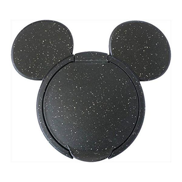 日本 迪士尼 Disney 米奇重覆黏貼濕紙巾專用盒蓋/濕巾蓋-黑X亮片