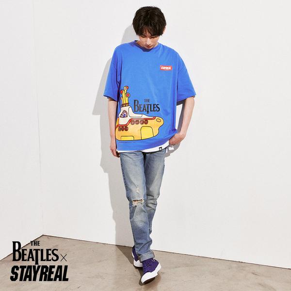 STAYREAL x The Beatles 黃色潛水艇寬版T