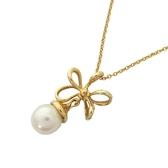 Tiffany & Co 蒂芬妮 花朵墜單顆珍珠造型18K金項鍊 K18WG Necklace 【BRAND OFF】