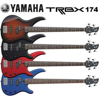 【金聲樂器廣場】全新 YAMAHA TRBX174 Bass 電貝斯 黑、紅、藍、漸層共四色