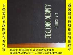二手書博民逛書店C.A.CUTTER罕見ALFABETIC-ORDER TABL
