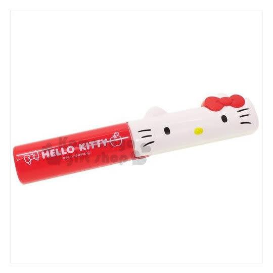 〔小禮堂〕Hello Kitty 攜帶式滾筒刷《紅.大臉.黏巴達.可水洗》隨時保持清潔乾淨 4549479-02950