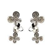 耳環 玫瑰金 925純銀鑲鑽-優雅朵朵情人節生日禮物女飾品2色73gs39【時尚巴黎】