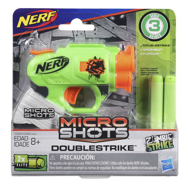 NERF樂活射擊遊戲 MICROSHOTS 超微掌心雷 ZOMBIE STRIKE打擊殭屍 DOUBLESTRIKE TOYeGO 玩具e哥