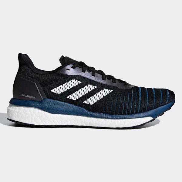 ADIDAS SOLAR DRIVE 男鞋 慢跑 休閒 透氣 避震 BOOST 輕量 網布 黑 藍【運動世界】D97442