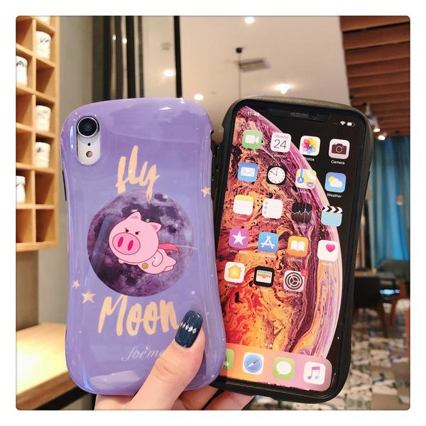 iPhone11ProMax 蘋果手機殼 可掛繩 飛天豬飛天麵包超人 矽膠軟殼 iX/i8/i7
