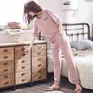 睡衣女夏季短袖兩件套休閒媽媽女士家居服春秋款寬鬆長褲