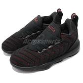 Nike Lebron XVI TD 黑 紅 16代 襪套式 免綁鞋帶 籃球鞋 童鞋 小童鞋【ACS】 AQ2468-002