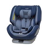 【ISOFIX/安全帶兩用】法國納尼亞 Nania x Migo 納歐聯名 360度旋轉 0-12歲汽車安全座椅/汽座 藍色