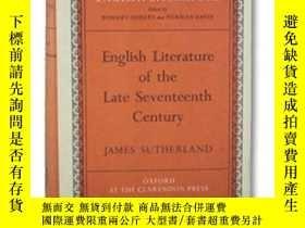 二手書博民逛書店English罕見Literature Of The Late Seventeenth CenturyY256