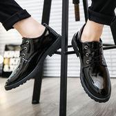 新款男士休閒黑色商務皮鞋男韓版潮流皮鞋子青年春季百搭男鞋 降價兩天