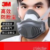3M 1211防塵口罩工業防灰粉塵裝修打磨車間活性炭透氣防毒面具   color shop
