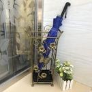 雨傘架 欣尚美歐式復古鐵藝家用雨傘架大堂酒店雨傘桶創意垃圾桶收納架 印象家品