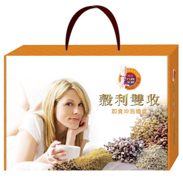 名廚美饌-榖利雙收 即食沖泡禮盒 【24臻穀(無加糖)+芝麻核桃糊(無加糖)】  *維康*