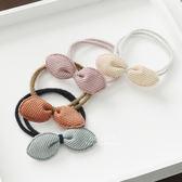 甜美條紋兔耳朵蝴蝶結髮圈 兒童髮飾 髮繩
