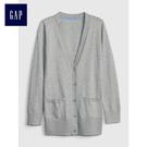 Gap女童 獨角獸圖案長袖開襟針織衫 469870-麻灰色