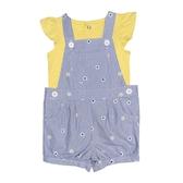 Carter s卡特 吊帶短褲+蝴蝶袖T恤 二件組 藍直條 | 女寶寶套裝(嬰幼兒/兒童/小孩)