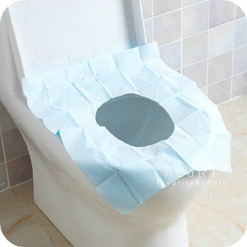 外出旅行衛生防水PE馬桶座墊紙單片入46*38cm