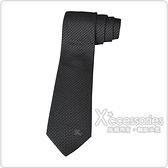 Burberry MANSTON.M 戰馬刺繡LOGO絲綢領帶 (黑)