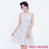 【RED HOUSE 蕾赫斯】花朵背心洋裝(灰色)