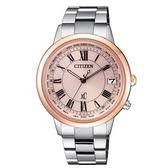 CITIZEN XC 亞洲限定優雅甜美電波腕錶/CB1106-51W