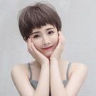 短假髮 假髮女短髮狗式啃劉海氣質修臉蓬鬆鎖骨發網紅bobo頭圓臉短捲髮套