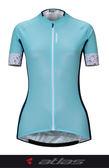 【亞特力士ATLAS】 女短袖車衣 30℃~38℃ WJU-307-G 繽紛五彩粉綠