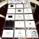 120張折疊賀卡韓國創意小卡片帶孔留言感謝卡【步行者戶外生活館】