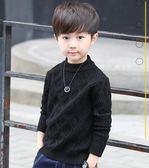 男童毛衣套頭秋冬季中大童加厚線衣男孩針織衫 優樂居