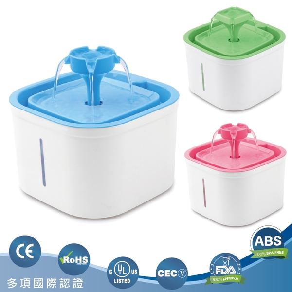 小方斗寵物循環飲水器 (基本款) 綠色